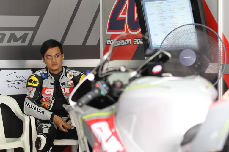 Zaqhwan Zaidi at the Malaysian World Superbike Championship in SEpang last weekend