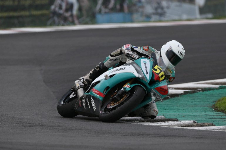 Afif Amran in action during the ARRC race in Indonesia last month