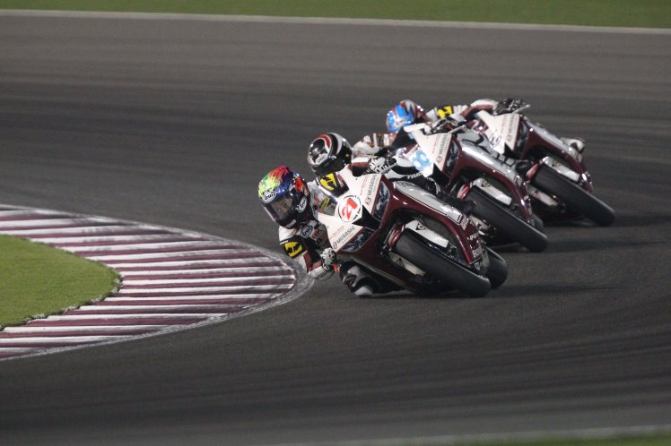 Zaqhwan Zaidi onboard his Honda in the ARRC season finale in Qatar