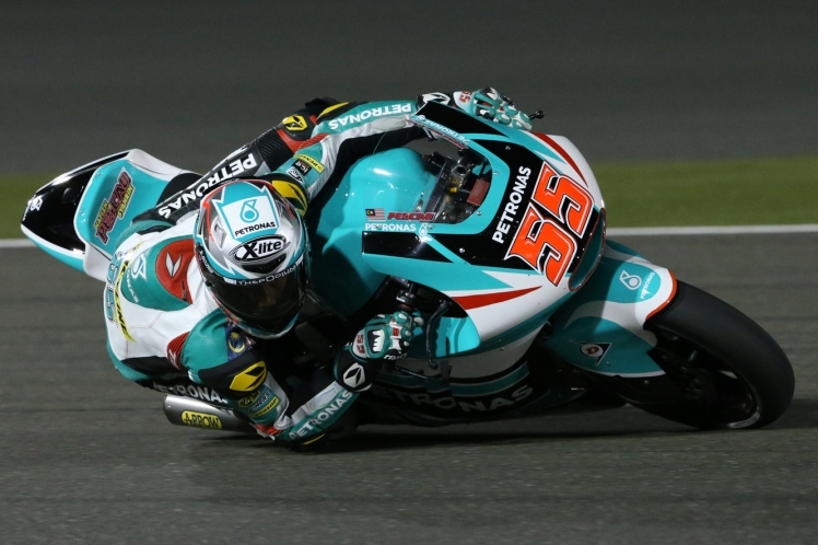 Hafizh Syahrin during the Moto2 race in Qatar