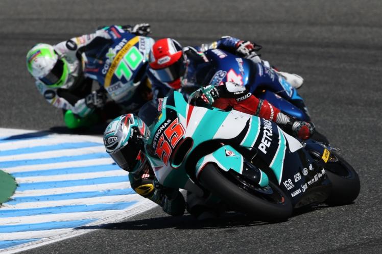 Hafizh battling hard yesterday at Jerez