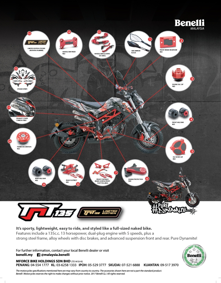 Introducing the new Benelli TNT 135 LE (Limited Edition