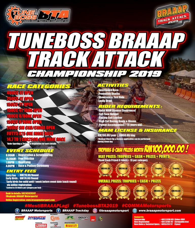 TuneBoss Braaap Track Attack 2019_IG Poster Template